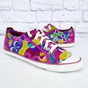 Coach Barrett Monogram Sneakers Multicolored 9